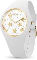 Ice-Watch ICE flower IW016667 Horloge - Siliconen - Wit  - Ø 40 mm