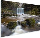 Waterval bij het Nationaal park Brecon Beacons in Wales Plexiglas 90x60 cm - Foto print op Glas (Plexiglas wanddecoratie)