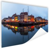 Nyhavn in schemering Poster 120x80 cm - Foto print op Poster (wanddecoratie)