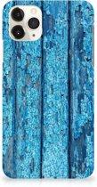 iPhone 11 Pro Max Backcase Blauw Wood