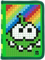 Pixie Crew Etui Met Siliconen Zijkant En Pixels 19 Cm Groen