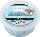 Creotime Foam Klei Glitter 35 Gram Lichtblauw