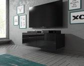 Meubella - TV-Meubel Calgary - Zwart - 100 cm - Hangend