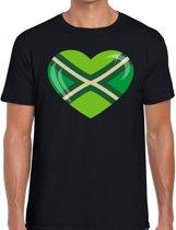 Zwarte Cross I love Achterhoek t-shirt zwart voor heren - Zwarte Cross / festival kleding S