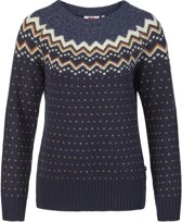 Fjallraven Ovik Knit Sweater Women - dames - trui - maat L - blauw