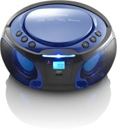 Lenco SCD-550 - Radio CD-speler met MP3, USB en Bluetooth - LED verlichting - Blauw