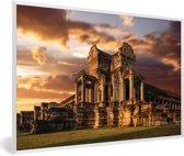 Foto in lijst - De oostelijke vleugel van Angkor Wat fotolijst wit 60x40 cm - Poster in lijst (Wanddecoratie woonkamer / slaapkamer)