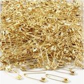 Veiligheidsspelden, l: 22 mm, dikte 0,6 mm, goud, 500stuks