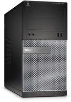 OptiPlex 3020 MT/Pentium G3250 (3.2GHz 3MB)/4GB (1x4GB) 1600MHz/500GB SATA 7.2k3.5i/Intel HD/DVD RW/MUI Win7Pro64/Win8.1 OS DVD/1Yr NBD/Black