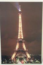 Canvas op houten frame - Eiffel toren met 9 leds in de toren