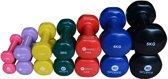 RS Sports Dumbellset Compleet - Dumbells vinyl - Set bestaande uit: 2x 0,5 kg 2x 1,0 kg 2x 1,5 kg 2x 2 kg 2x 3 kg 2x 4 kg en 2x 5 kg - Diverse kleuren
