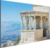 Close-up van de Akropolis Aluminium 120x80 cm - Foto print op Aluminium (metaal wanddecoratie)