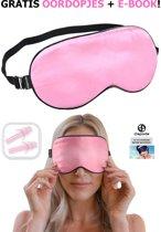 Originele Zijden Zacht Reis Slaapmasker + GRATIS Oordopjes & EBOOK! | Oogmasker | Reismasker | Satijn | Nachtmasker | Ooglapje | Oogkapje | Slaapbril | Blinddoek | Zijde | Ogen | Roze | Premium | Beste Kwaliteit van Dapoda Products