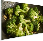 Roergebakken verse broccoli Plexiglas 120x80 cm - Foto print op Glas (Plexiglas wanddecoratie)