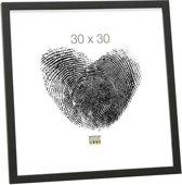 Deknudt Frames Fotolijst S43AH2 - smal zwart hout - Foto: 9x13 cm