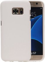 Wit Zand TPU back case cover hoesje voor Samsung Galaxy S7