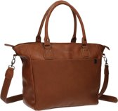 Kidzroom Deluxe Fashion Verzorgingstas Vegan Leather Unisex - Cognac - Damestaslook met handige accessoires