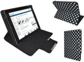 Polkadot Hoes  voor de Icoo Icou Fatty 2, Diamond Class Cover met Multi-stand, Zwart, merk i12Cover