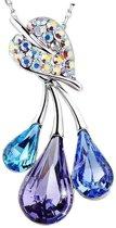 Prachtige ketting met kleurrijke kristallen