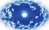 Fotobehang Lucht, Wolken | Blauw | 312x219cm