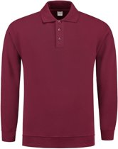 Tricorp Polosweater boord - Casual - 301005 - wijnrood - maat S