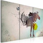Schilderij - zebra - abstractie