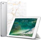 Apple iPad 9.7 (2017 / 2018) Hoes Marmer Goud Tri-Fold Book Case Cover Leer - Hoesje van iCall