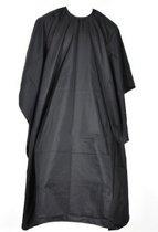 Kappersschort 137 cm - zwart - kappersmantel / kapmantel - waterdicht