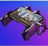 Cover van de game Universele Mobiele Telefoon Gamepad Controller - K21 - Smartphone game knoppen - PUBG - Fortnite - Geschikt voor alle smartphones! L1 R1 Game knoppen - Game Handles