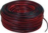 Valueline - Luidspreker Kabel - Zwart / rood - 100 meter
