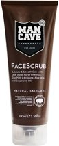 MULTI BUNDEL 3 stuks Man Cave Face Care Scrub 100ml