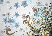 Fotobehang Floral Pattern    XXXL - 416cm x 254cm   130g/m2 Vlies