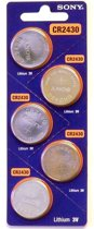 Blisiter van 5 Stuks - CR2430 lithium knoopcel batterij 3Volt - DL2430 / ECR2430 / CR2430