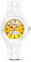 Colori Happy Smile 5 CLK076 Kinderhorloge met Happy Emoticon - Siliconen Band - Ø 30 mm - Wit