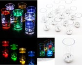 LED Shot Glaasjes Set - Borrelglaasjes Shotglazen Shot Glasses Set - Shotglas - 12 Stuks
