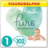 Pampers Pure Protection - Maat 1 (New Born) 2-5kg - Maandbox 102 Stuks - Luiers