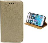 Colorfone PREMIUM Book Case PU / Kaarthouder / Magnetische sluiting / Hoesje / Full Cover voor de Apple iPhone 6/6S Goud