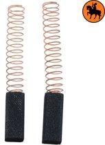 Koolborstelset voor Black & Decker Schuurmachine 10HM2VB - 6x6x15mm