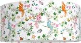 Plafondlamp Roozje - Vogels en bloemen multicolor - 35cm