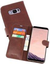 Rico Vitello Mocca Echt Leder Hoesje Galaxy S8 Plus