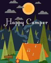 Happy Camper: Night Outdoor Camping Journal Travel Activity Planner Notebook - RV Logbook Hiking Checklist Keepsake Memories For Kid