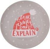 Bellatio Decorations kerst bord - I Can Explain - 25 cm