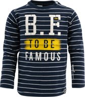 Born to be Famous - Donkerblauw - gestreept shirt - maat 68