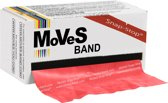 Fitness band MoVeS - 5,5m rol | Weerstandsband | Medium - Rood