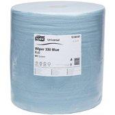 Tork Industrial  Rol Poetspapier 3-laags Blauw W1