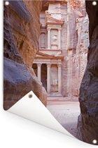 Petra tussen de rotsen van Jordanie Tuinposter 60x90 cm - Tuindoek / Buitencanvas / Schilderijen voor buiten (tuin decoratie)