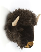 Wanddecoratie pluche buffel