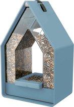 TA Emsa Landhaus Original - Vogelvoeder Dispenser - Blauw - 15 x 10 x 24 cm