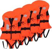1x4zwemvesten Reddingsvesten Oranje 20-30 kg 100N 4 STUKS voordeel - Zwemvesten - Reddingvest Kinderen