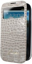 Guess Samsung Galaxy S4 Mini Battery Cover Book Case with Window - Croco Beige
